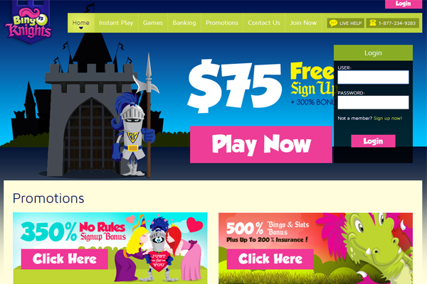 Bingo Knights screen shot