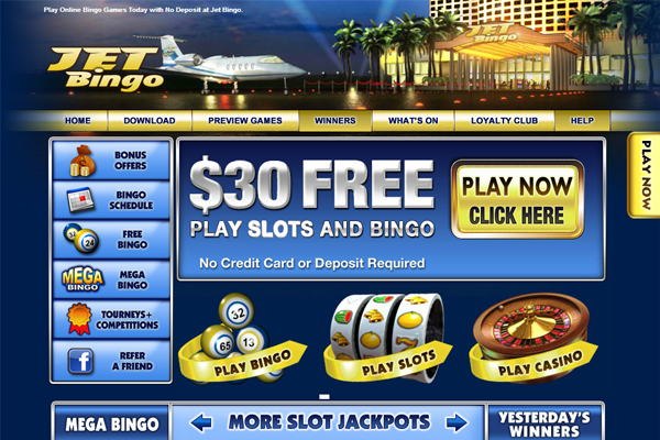 Jet Bingo screen shot