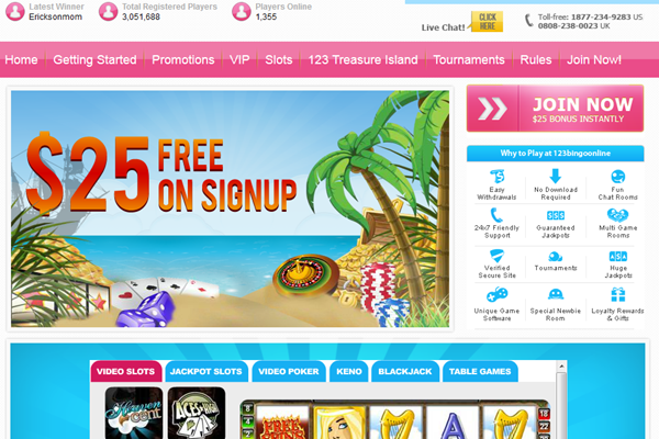 123 Bingo Online screen shot