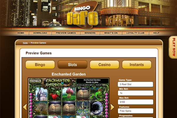 Bingo Cafe screen shot